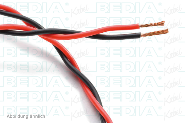 Verdrillte Leitungen : FLRY-A 2 x 0,35 mm² gn-or/or